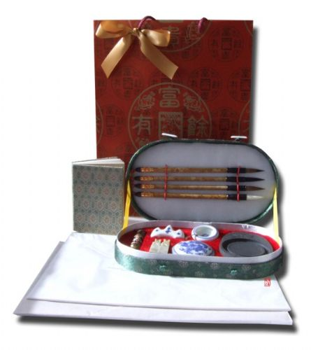 Gift Set - Chinese Calligraphy writing set rounded (F220) small Calligraphy book & paper packs x2